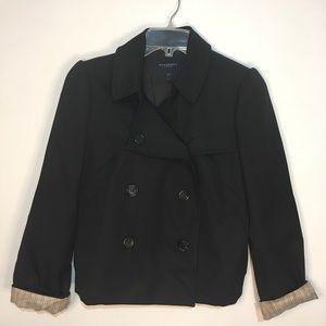 Burberry London 100% Wool Black Blazer Sz. 6